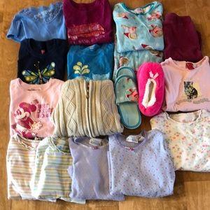 Girls size 7 bundle of 15 items; long/short sleeve